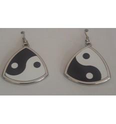 Boucles d'oreilles yin yang...