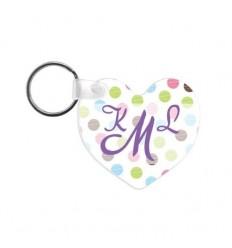 Porte clés cœur personnalisé