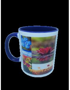 "Mug bicolore ""nature"" bleu..."