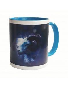 Mug bicolore bleu ciel bélier