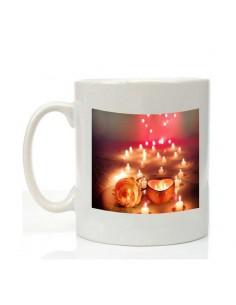 """Mug """"bougies"""" saint Valentin"""
