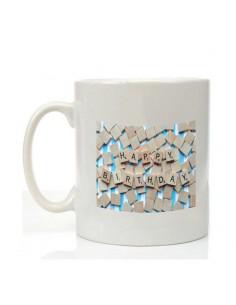Mug happy birthday scrabble