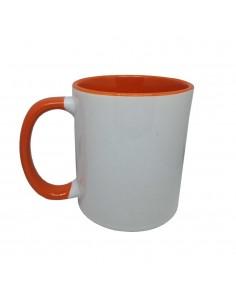 Mug orange personnalisé