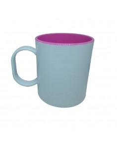 mug incassable bicolore rose