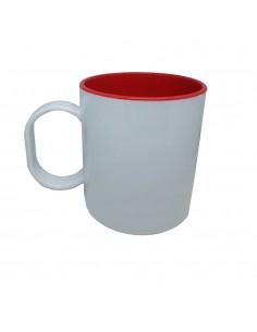 Mug incassable bicolore rouge
